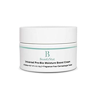 BeautyStat Cosmetics Universal Pro-Bio Moisture Boost Cream, Hyaluronic Acid Facial Skin Moisturizer, Natural Anti Aging, Anti Wrinkle, 1 oz.