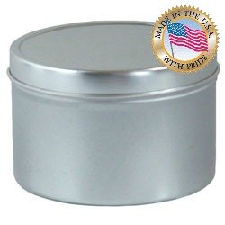 8 Oz Seamless Candle Tins Per 12