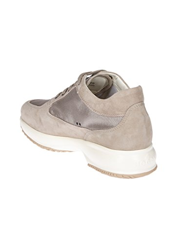 Hogan Vrouwen Hxw00n02011fi70kl4 Beige Suède Sneakers