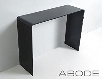 Black Glass Console Table   Curved Edge   Glass Furniture