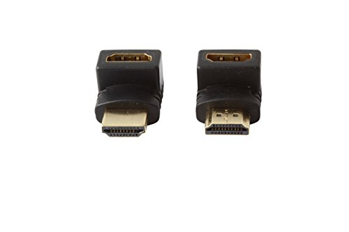 HDMI Adapter Vertical 90 Degree / 270 Degree Angle (2-PACK) - Male to Female - WireShopper