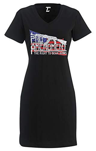 2nd Amendment - The Right to Bear Arms Women's Nightshirt (Black, XX-Large/XXX-Large)