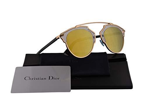 2e51f25150 Christian Dior DiorSoReal Sunglasses Gold Black w/Gold Mirror Lens U5SK1 Dior  So Real