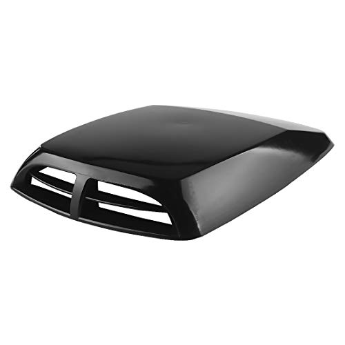 (Andux Land Car Decorative Air Vents Air Flow Intake Hood Scoop Sticker Cover Hood JFK-03 (Black))