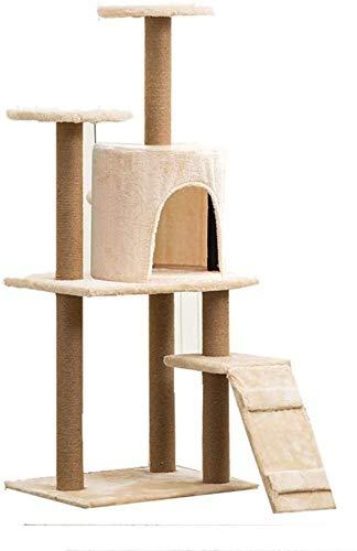 FTFDTMY Jute Cat Klettergerüst, einteiliges Katzennest Kratzbaum Pet Foster Care Center Kleintiere Spielzeug…