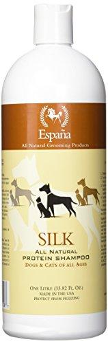 Silk Dog Shampoo - Espana Silk ESP0020DC Specially Formulated Silk Protein Shampoo for Dogs and Cats, 33.82-Ounce