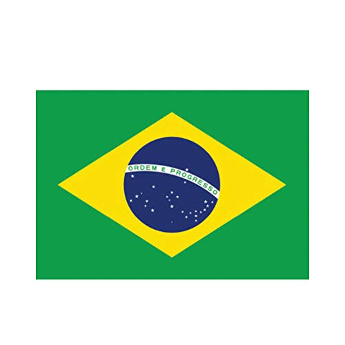"214 Graphics 4"" Brazilian Flag Sticker Decal Self Adhesive Vinyl Brazil Bra BA"