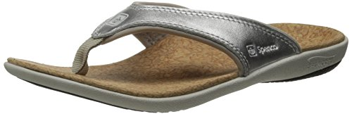 Spenco Women's Yumi Metallic Sandal, Silver, 7 M US