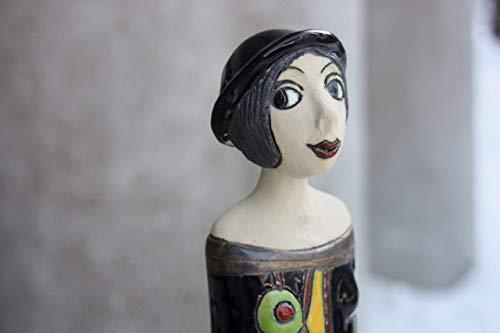 (Woman Ceramic Sculpture,Ceramic Statue, Ceramic Figures, Hand painted ceramic statue, Ceramic Artwork Sculprute)