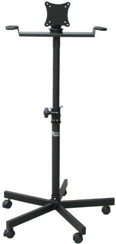 Audio2000'S AST420X LCD Monitor Karaoke Stand, Black