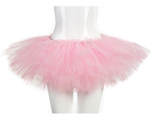 Halloween Dress Up Women (belababy Women Pink Tutu Girls Halloween Dress Up Skirt, One Size, Pink)
