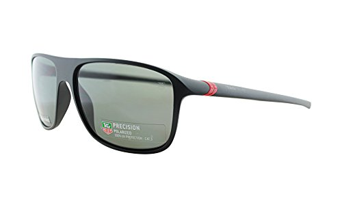 TAG Heuer Men's Tag_6041_909_59mm Sunglasses, Black/Red, - Heuer Tag Sunglasses For Men