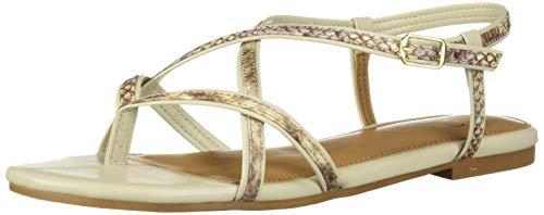 Aerosoles A2 Women's Short Hand Sandal, TAN Snake, 10.5 M US