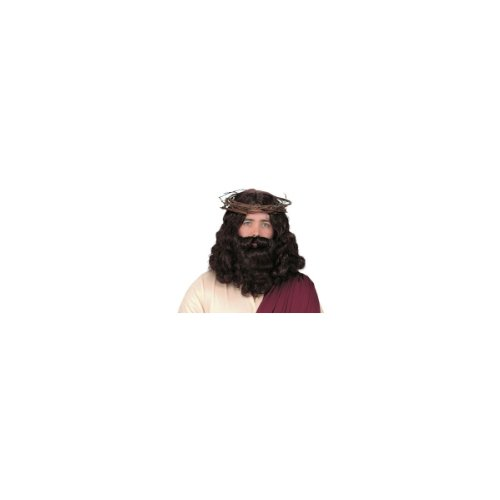 Forum Biblical Wig and Beard Set, Brown, One Size (Wigs And Beards)