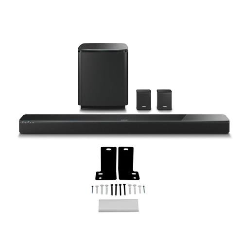 Bose SoundTouch 300 Soundbar, Black - Bundle With Bose Acoustimass 300 Wireless Bass Module Black, Bose Virtually Invisible 300 Wireless Surround Speakers Black, Wall Bracket Kit Wb-300 by Adorama
