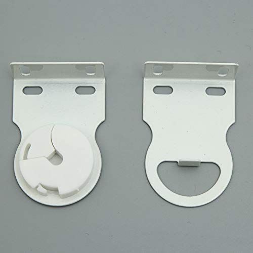 EUTUOPU 35mm Quality Metal Bracket Upgrade Roller Blind Fittings Spare Kit White Heavy Duty Bead Chain Kit For Roller Blind Home Hardware Practical White