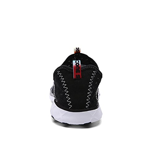 KISCHERS Verano Hombres Zapatillas De Malla Transpirable De Secado Rápido deportes Zapatos de Agua Negro