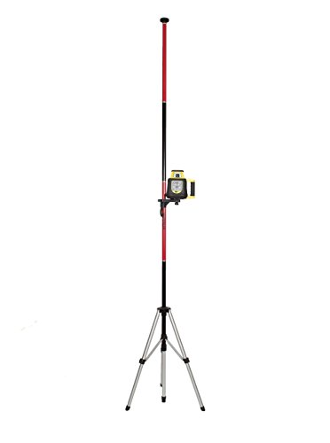 AdirPro Telescoping Pole with Tripod and Mount for Rotary and Line Lasers