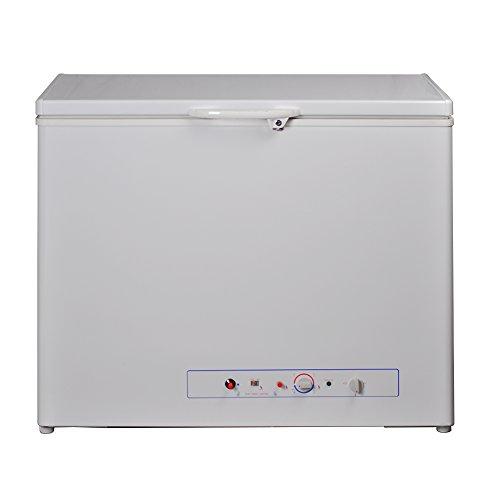 SMETA Single Door Upright Chest Freezer 5.5 Cu ft 110v/Gas Propane Absorption freezer with Lock,White