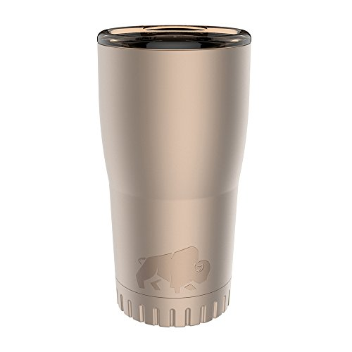 - Silver Buffalo NL112195 Matte Stainless Steel Travel Tumbler, 20-Ounces, Gold