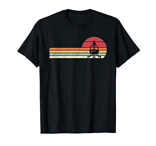Helicopter Shirt. Retro Style Pilot - Helicopter Retro