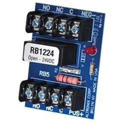 Relay module (12vdc or 24vdc, 5amp/115vac/28v dc dpdt contact)