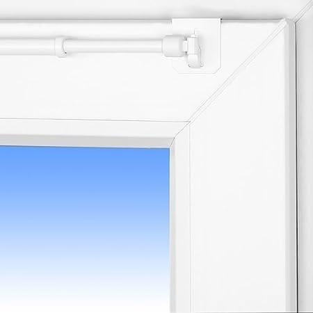 blanc Tringle /à rideaux /«/Florida//» extensible 60-80/cm 1 paire de supports /à fixer en haut sur la fen/être universelle