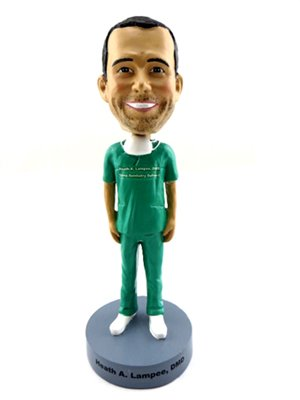 Doll Head Bobble (Unibobble 7 Inches Custom Made Occupational Bobble head Doll From Head To Toe Based On Your Photos)
