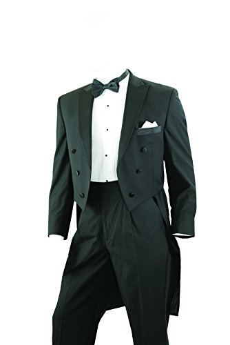 Tailcoat Tuxedo in Black, Includes Tailcoat & Tuxedo Pants - 46 Regular -