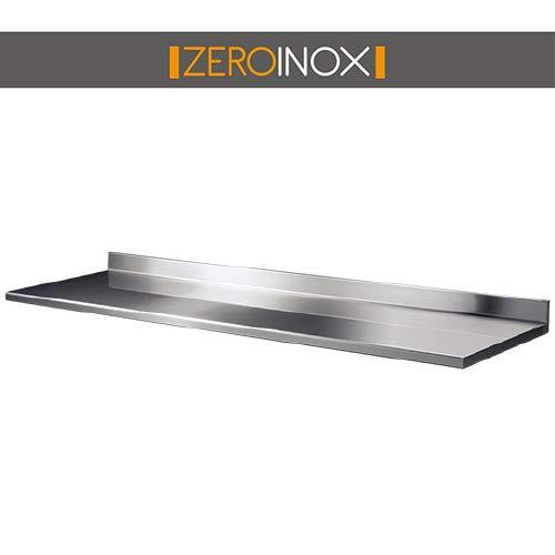 ZeroInox Regal/Wandregal Tiefe 40 cm - Verschiedene Grö ß en - aus Edelstahl AISI 304