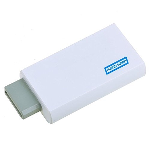 (720P/1080P Converter Upscaling Adapter 3.5mm With Output Audio for Wii To High-Definition Multimedia Interface)