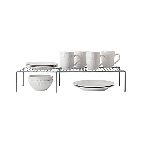 Kitchen Details Expanding Kitchen Shelf Organizer in Grey