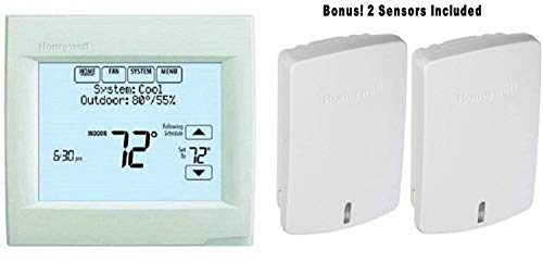 8 Vision Pro 8000 Touch Screen Single Stage Thermostat with Red Link Technology BONUS: Includes 2 Indoor Sensor C7189R1004 to Average Temperatures ()