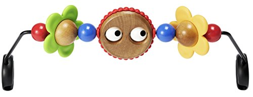 BABYBJORN Wooden Toy for Bouncer - Googly Eyes Soft Stroller Bar