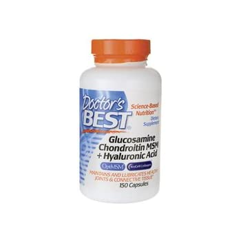 Glucosamine/Chondroitin/MSM Plus Hyaluronic Acid Doctors Best 150 Caps
