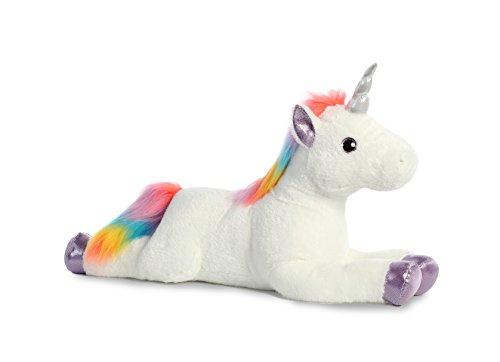 Aurora World Super Flopsie Plush Toy Animal, Rainbow Unicorn Super -