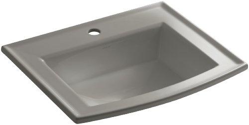 - KOHLER K-2356-1-K4 Archer Self-Rimming Bathroom Sink with Single-Hole Faucet Drilling, Cashmere