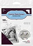 Bulk Buy: 3L/HELMAR Classic Style Paper Photo Corners .5'' (12mm) 126/Pkg Silver 3L-PC-1627 (4-Pack)