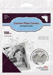 Bulk Buy: 3L/HELMAR Classic Style Paper Photo Corners .5'' (12mm) 126/Pkg Silver 3L-PC-1627 (4-Pack) by HELMAR