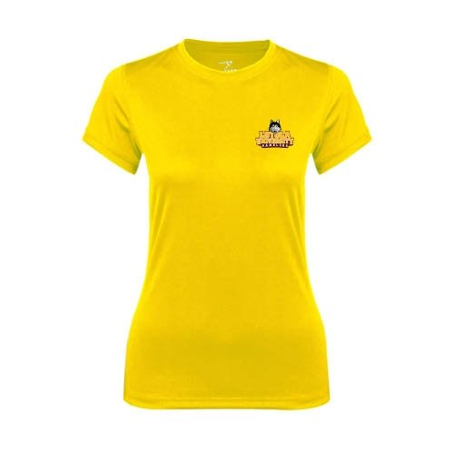Loyola (IL) Ladies Syntrel Performance Gold Tee 'Official Logo'