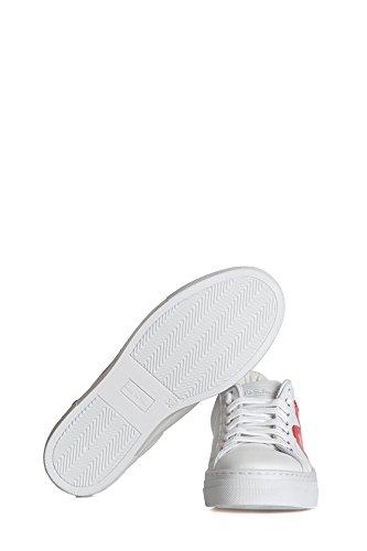 Nira Rubens Dame Nicu04 Weiss Leder Sneakers dSroUFi4Kp