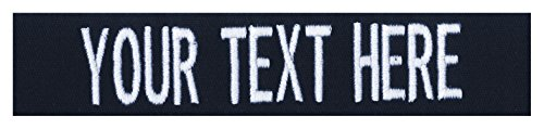 Custom Uniform Name Tapes, 50 Fabrics to choose from! Made in the USA! SHIPS UNDER 24 HRS! Fabric - Dark Blue, 3.5
