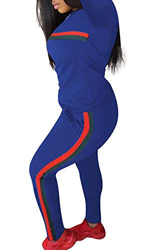 0e490f0f79592 DINGANG Women 2 Pieces Outfits Long Sleeve Top and Long Pants Sweatsuits Set  Tracksuits