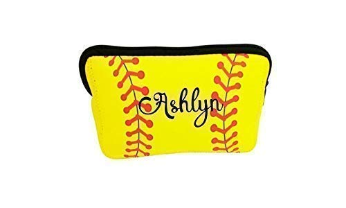 (Personalized Makeup Bag Softball Team Gift for Girl Teen Player Mom Coaches)