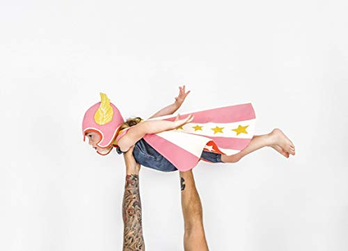 Superhero Costume in Pink Flying Superhero Cape & Hat set]()