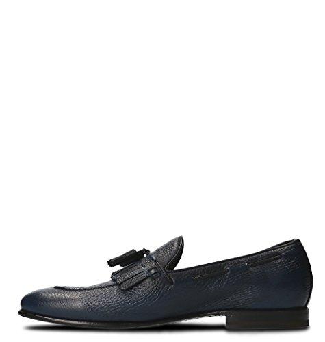 Barrett Men's 141U033CIELO Blue Leather Loafers YEuem