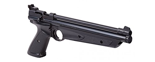 Crosman P1322 American Classic Multi Pump Pneumatic .22-Caliber Pellet Air Pistol, Black (Mushroom Bullseye)