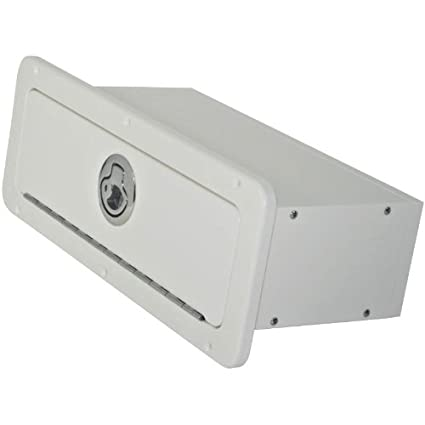 Merveilleux Boat Glove Box With Integrated Seal (White/White)