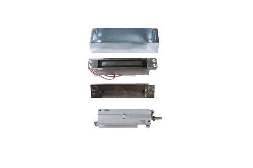 Schlage Electronics GF3000BRD Bottom-Rail Mortise-Mounted Shear Electromagnetic Lock, Single Inswinging or Outswinging Door, Horizontal Mount, 3,000 lb. Holding Force, Satin Aluminum ()