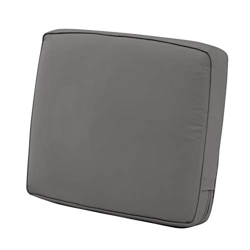 Classic Accessories Montlake Patio FadeSafe Back Cushion, Charcoal, 23
